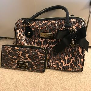 Betsey Johnson Sequin Purse and Wallet